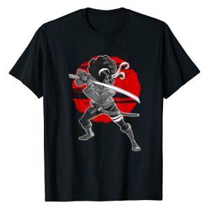 STYLEUNIVERSAL Graphic Tshirt 1 Afro Black Woman Samurai T-Shirt