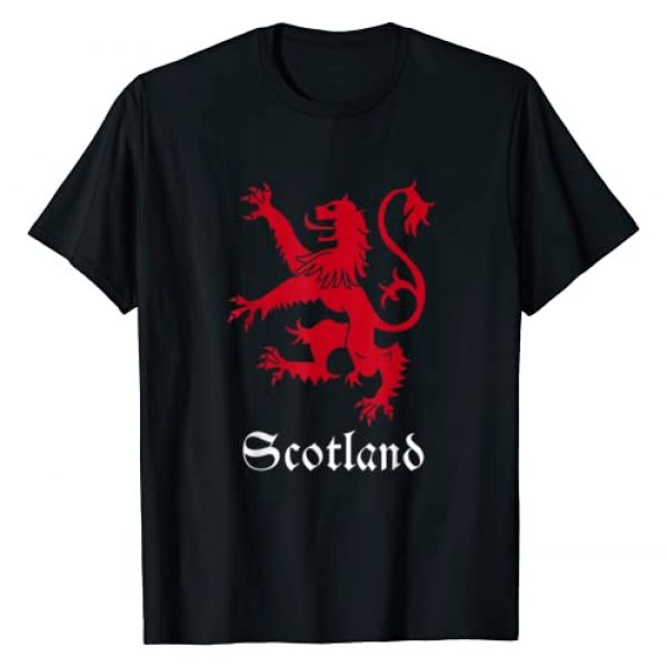 Scottish Lion Emblem . Graphic Tshirt 1 Scottish Lion Rampant T-shirt Scotland Coat Arms Gift Emblem
