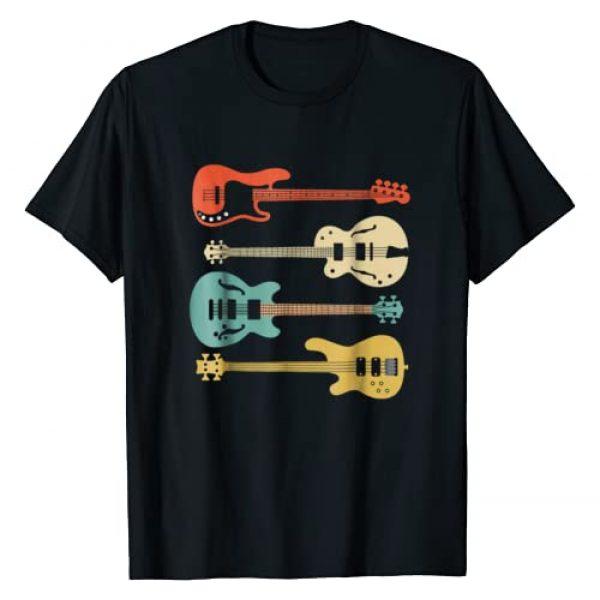 Blink Vintage Retro Apparels Graphic Tshirt 1 Vintage Retro Bass Guitar T-Shirt Bassist Player Shirt