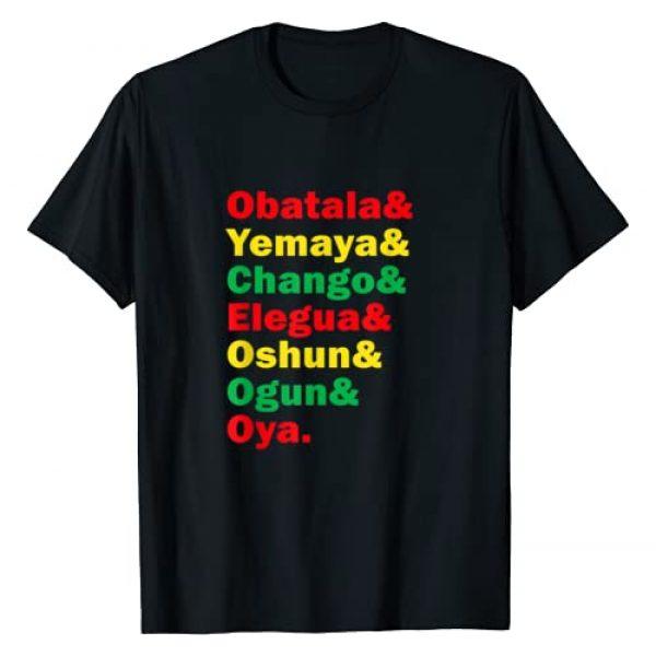 Orisha Santeria Gift Shirt Graphic Tshirt 1 7 African Powers Shirt - Orishas