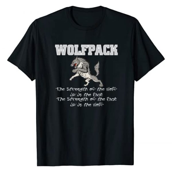 EAST COAST DESIGNS NC Graphic Tshirt 1 Wolfpack T-Shirt Strength of pack T-Shirt