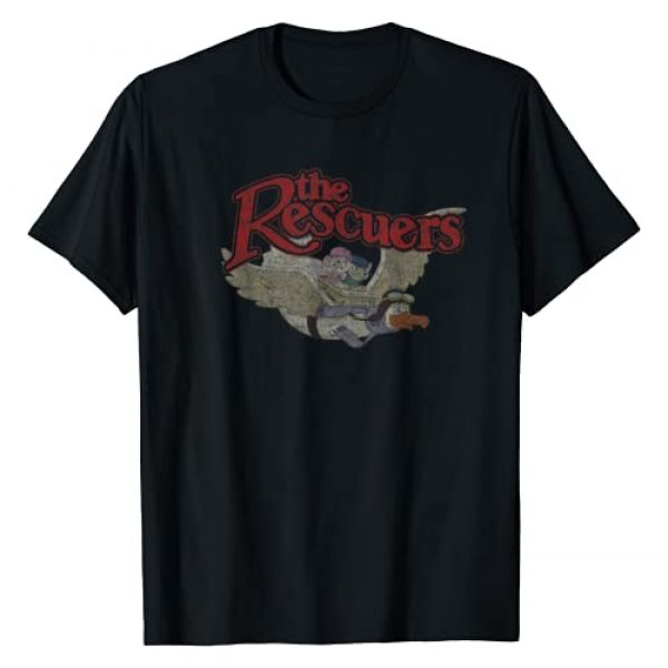 Disney Graphic Tshirt 1 The Rescuers Down Under Group Shot Movie Logo T-Shirt