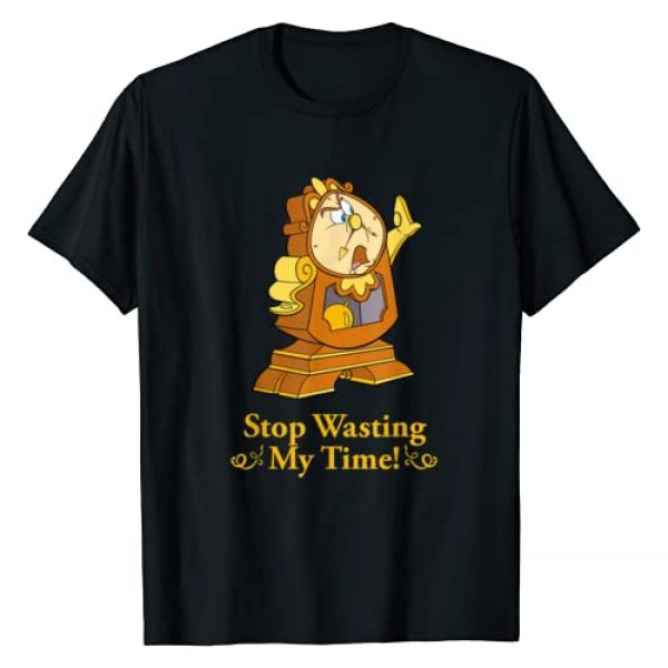Disney Graphic Tshirt 1 Beauty and the Beast Cogsworth Stop Wasting My Time T-Shirt