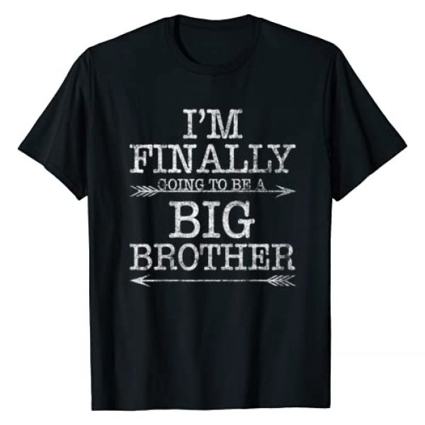 Funny Big Brother Finally Tees Graphic Tshirt 1 Older Brother Gift I Am Finally Going To Be A Big Brother T-Shirt