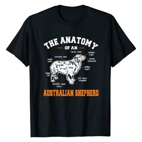 Dog Lovers Graphic Tshirt 1 The Anatomy Of An Aussie T-shirt Aussie Dog Shirt