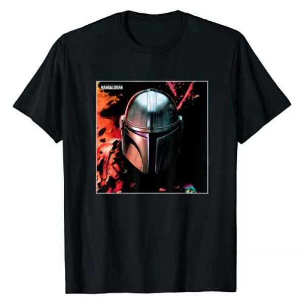 Star Wars Graphic Tshirt 1 The Mandalorian Helmet T-Shirt