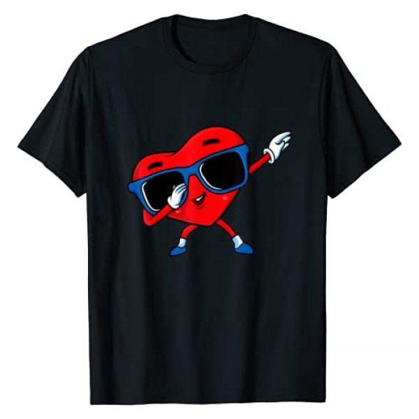 Lil Cupids Valentines Day Gift Graphic Tshirt 1 Dabbing Heart Boy Valentine Dab Love Valentines Day Boys T-Shirt