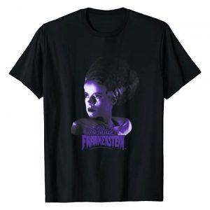 Universal Monsters Graphic Tshirt 1 Bride Of Frankenstein Dark Portrait T-Shirt