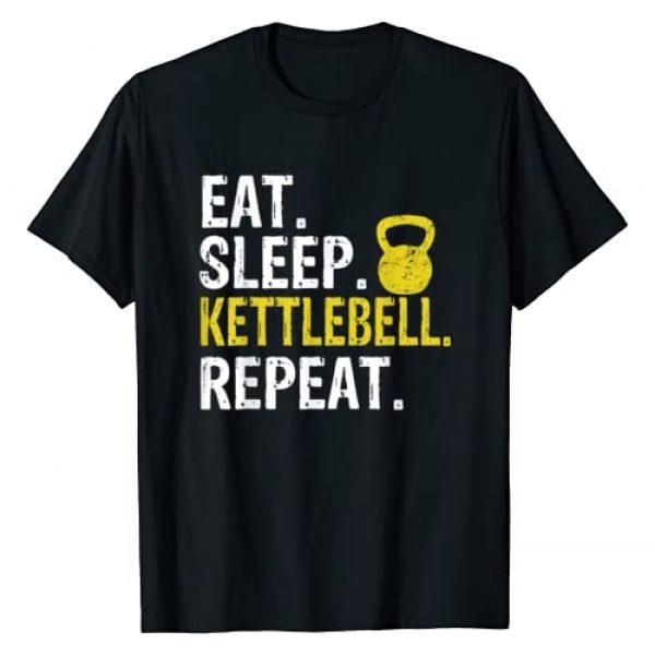 Eat Sleep Kettlebell Repeat Tee Co. Graphic Tshirt 1 Eat Sleep Kettlebell Repeat Fitness Train T-Shirt