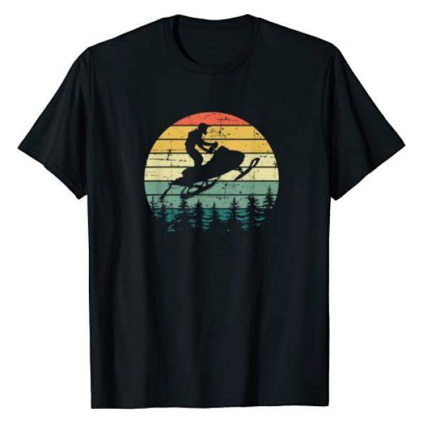 Funny Snowmobile Snowmobiling Gifts Design Graphic Tshirt 1 Vintage American Snowmobile Retro Snowmobiling Sled T-Shirt