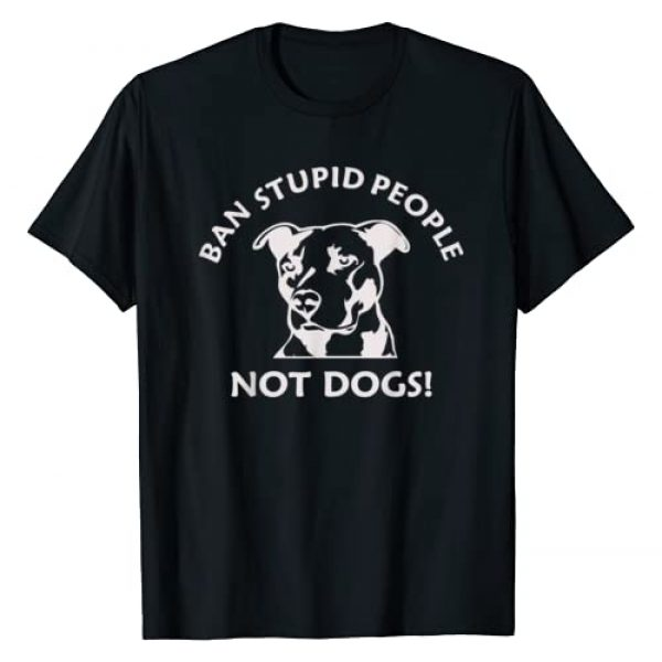 Sneaky Tees Graphic Tshirt 1 Ban Stupid People Pit Bull T-Shirt (Pitbull shirt, dogs)
