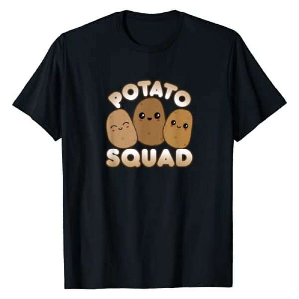 Cute Kawaii Style Potato Squad Shirt Apparel Gifts Graphic Tshirt 1 Funny Potato Gift Cute Kawaii Style Smiling Potato Squad T-Shirt