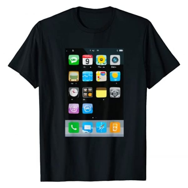 Cell Phone Apparel Clothing Graphic Tshirt 1 Cell Phone Smartphone Mobile App Halloween Costume T-Shirt