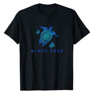 Santa Cruz tribal tattoo design Graphic Tshirt 1 Santa Cruz California T-Shirt Sea Blue Tribal Turtle