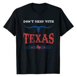 Proud Texas Pride Dallas Houston Austin TShirt Tee Graphic Tshirt 1 Don't Mess With Shirt Vintage Texas Longhorn Lone Star State T-Shirt