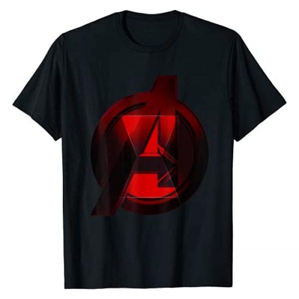 Marvel Graphic Tshirt 1 Black Widow Avengers Logo Fill T-Shirt