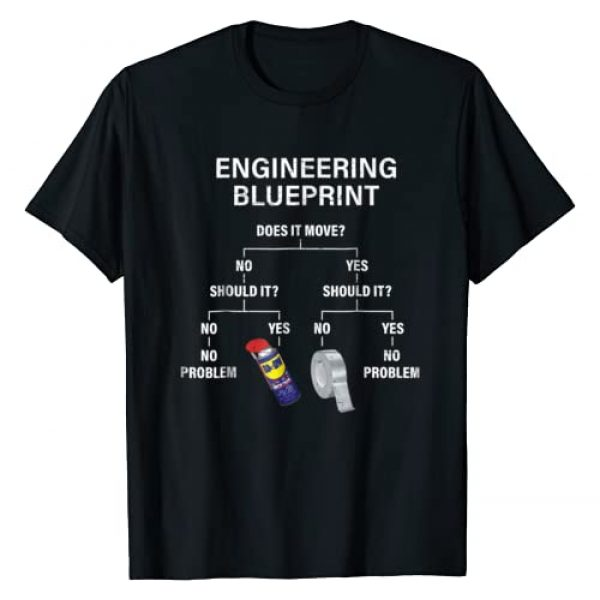 4Shirt Funny Duct Tape Quote Gift Graphic Tshirt 1 My Engineering Blueprint - Funny Engineer T-Shirt