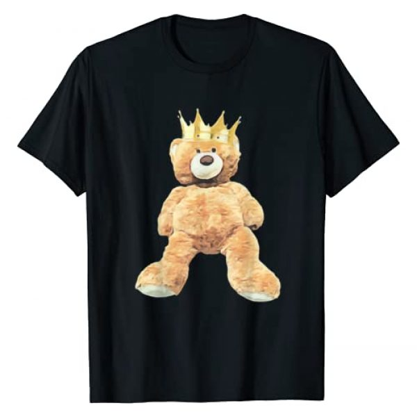 Trendy Teddy Bear Tee Apparel Graphic Tshirt 1 King Crown Teddy Bear T-Shirt