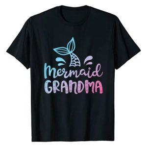 Mermaid Squad Co Graphic Tshirt 1 Mermaid Grandma Funny Grandmother Family Matching Birthday T-Shirt