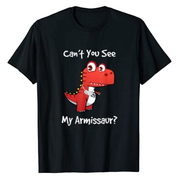 Broken Arm Get Well Gifts for Kids Graphic Tshirt 1 Funny Get Well Broken Arm Gift Dinosaur with a Cast T-Shirt