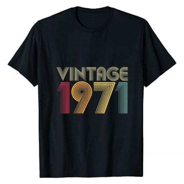Vintage Birthday Gifts Retro Graphic Tshirt 1 49th Birthday Gifts Year Old - Vintage 1971 T-Shirt