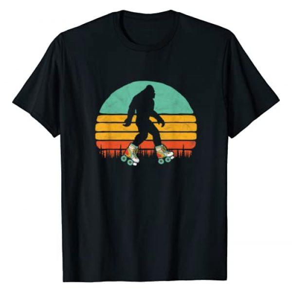 Bigfoot UFO Believer 2001 Tees Graphic Tshirt 1 Retro Bigfoot Roller Skating Sasquatch 80s Skater Graphic T-Shirt