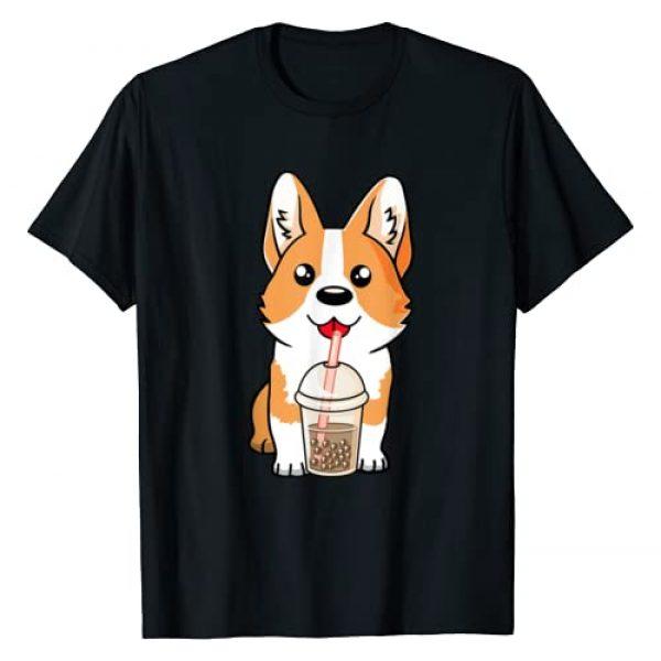 Kawaii Anime Design and Gifts by The Beard Studio Graphic Tshirt 1 Boba Tea Corgi Dog Puppy Lover Kawaii Japanese Anime Gift T-Shirt