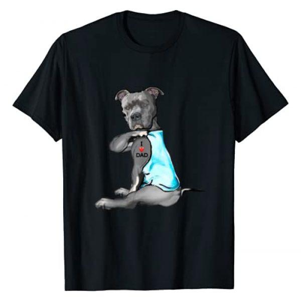 Funny Dog Pitbull I Love Dad Tattoo Tee Gift Graphic Tshirt 1 Funny Women Gifts Dog Pitbull I Love Dad Tattoo Gift T-Shirt