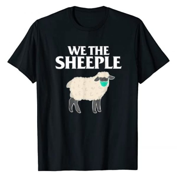 anti-mask Graphic Tshirt 1 We the Sheeple funny Anti-mask sheep with face mask T-Shirt