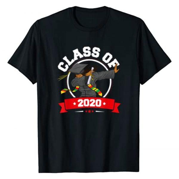 DabbaliciousFX Apparel Graphic Tshirt 1 Dabbing Graduation Class Of 2020 Funny Gifts For Women Black T-Shirt