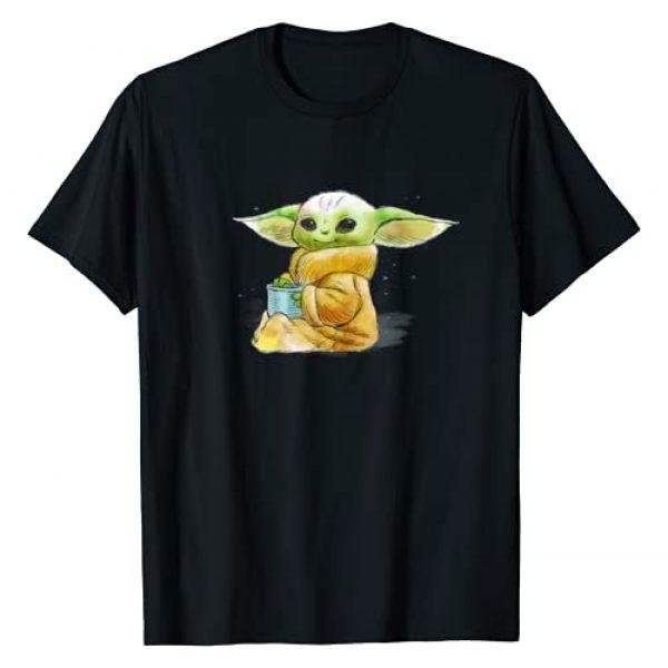 Star Wars Graphic Tshirt 1 The Mandalorian The Child Drink Soup Illustration T-Shirt