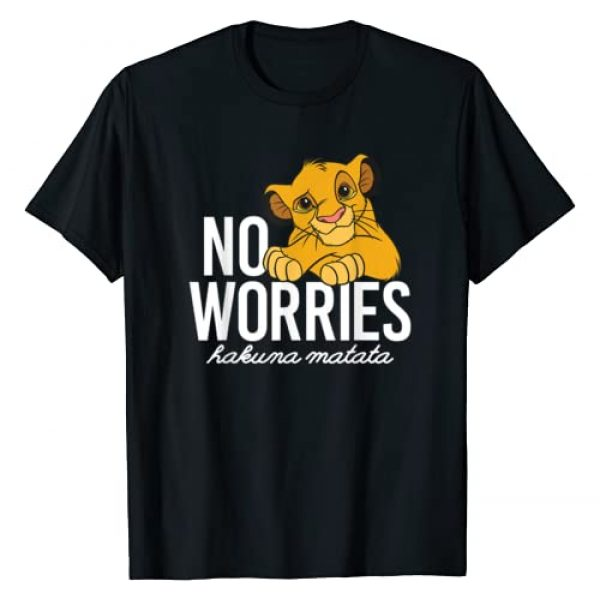 Disney Graphic Tshirt 1 Lion King Classic No Worries Simba T-Shirt