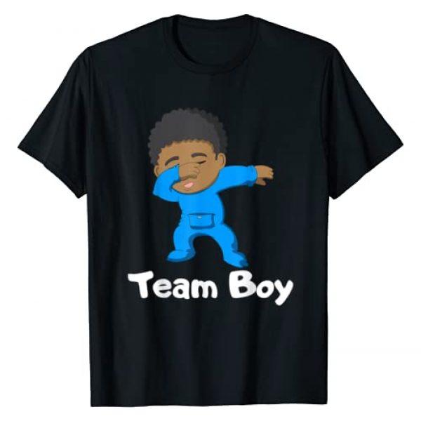 YO MINUS Graphic Tshirt 1 Gender Reveal Party Team Boy Cute Dabbing Black Baby Tee T-Shirt