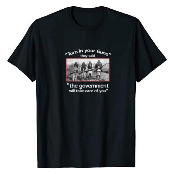 "3Sixteen T shirts Graphic Tshirt 1 gun T shirt. ""Turn in Your Guns..."" Native American. 2nd Ame"