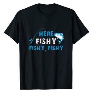 Here Fishy Fishy Fishy Trout TShirt Graphic Tshirt 1 Funny Fisherman Here Fishy Fishy Fishy T-Shirt Gift