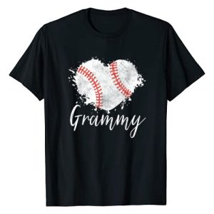 Baseball Funny Shirt Graphic Tshirt 1 Baseball Grammy T-Shirt Baseball Love Heart