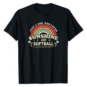 Softball Shirts For Women And Girls Graphic Tshirt 1 Softball Shirt. Just A Girl Who Loves Sunshine And Softball T-Shirt