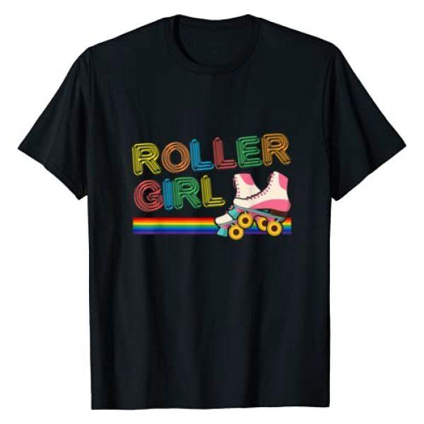 Roller Girl Vintage Retro Skates - DressedForDuty Graphic Tshirt 1 Roller Girl Vintage Seventies 70's Cool Retro Skates Skating T-Shirt