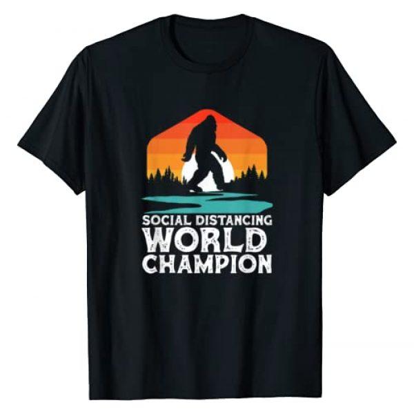 Sasquatch Garage Graphic Tshirt 1 Social Distancing World Champion Funny Bigfoot 2020 T-Shirt