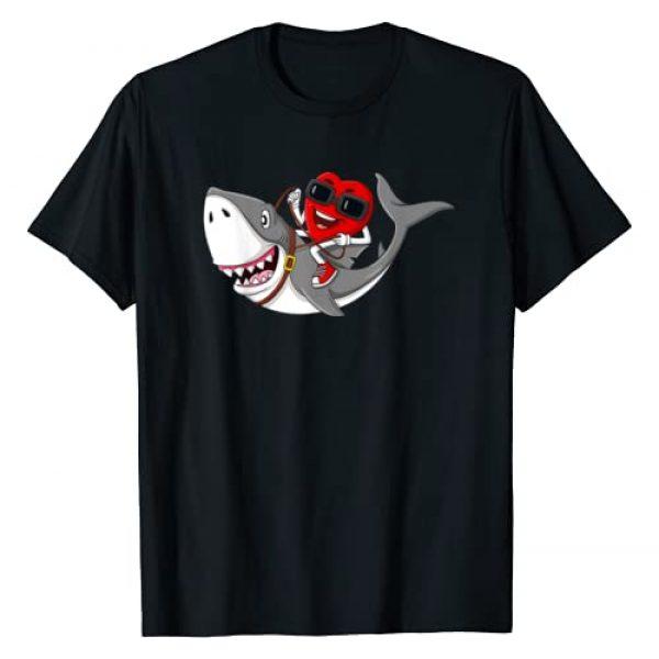 Mr Ben Valentines Day Graphic Tshirt 1 Heart Riding Shark Valentine's Day Funny Boys Girls Kids T-Shirt