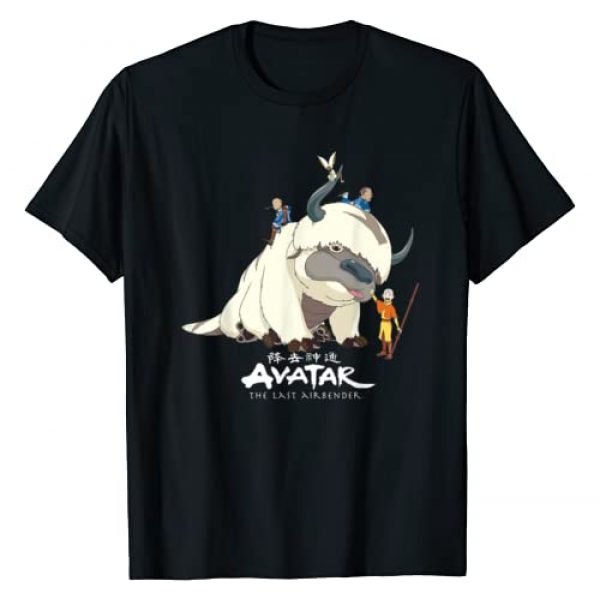 Avatar: The Last Airbender Graphic Tshirt 1 Appa Group Shot Logo T-Shirt