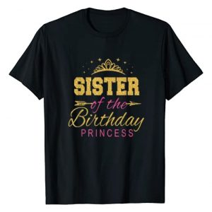 Keep Calm Birthday Gift Tee Shirts Graphic Tshirt 1 Sister Of The Birthday Princess Girls Party T-Shirt