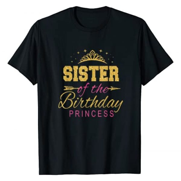 Keep Calm Birthday Gift Tee Shirts Graphic Tshirt 1 Sister Of The Birthday Princess Girls Party T-Shirt