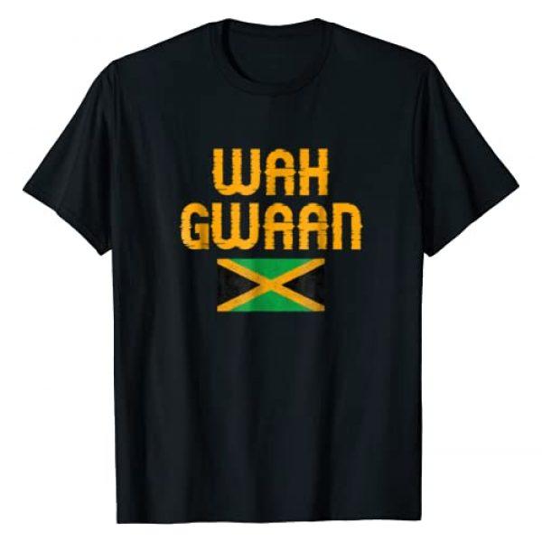 Funny Jamaican Apparel Graphic Tshirt 1 Wah Gwaan Jamaica T-Shirt