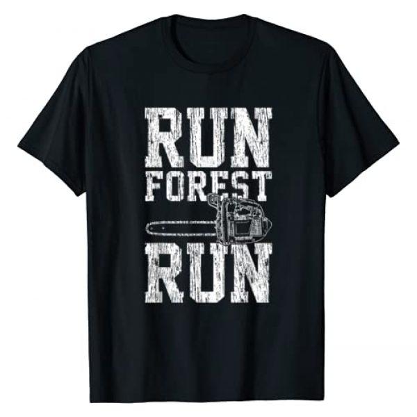Lumberjack & Lumberjack Graphic Tshirt 1 Lumberjack Chainsaw Run Forest Run Funny T-Shirt