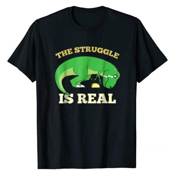 The Struggle Is Real T Rex Dinosaur Taco Food Tees Graphic Tshirt 1 The Struggle Is Real T-Shirt T Rex Dinosaur Taco Food Tee