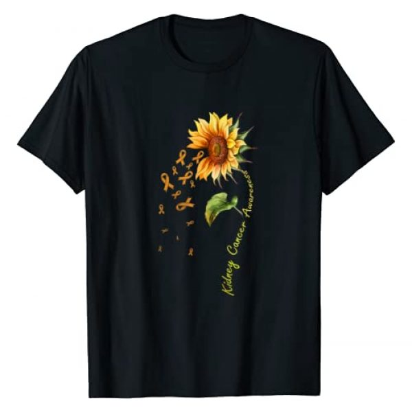 Sunflower Kidney Cancer Awareness Tees Graphic Tshirt 1 Kidney Cancer Awareness Sunflower Shirt