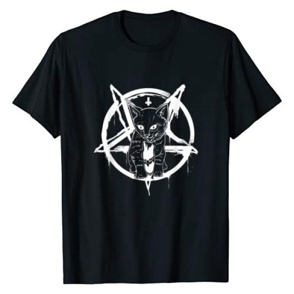 Hail Satan Shirt by Crush Retro Graphic Tshirt 1 Satan Cat Shirt - Occult Satanic Lucifer Gift Women Men T-Shirt
