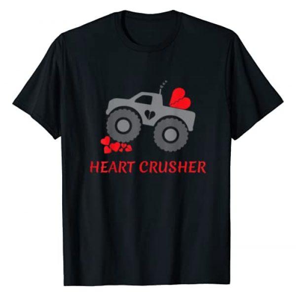 My Valentines Shirts Graphic Tshirt 1 Heart Crusher shirt, Boy Valentines Day T Shirt, Truck Tee