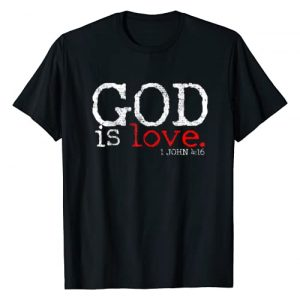 Motivational and Positive Gifts Graphic Tshirt 1 Christians God Is Love Gift Vintage T-Shirt
